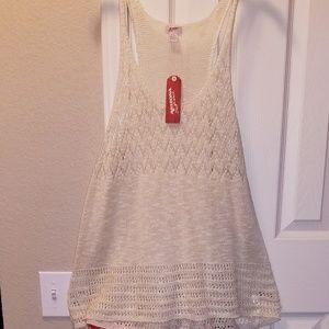 NWT Arizone Jeans Co. JC Penney Crochet Tank Plus